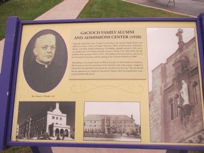 Gacioch Family Alumni and Admissions Center Marker image. Click for full size.