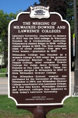 The Merging of Milwaukee-Downer and Lawrence Colleges Marker image. Click for full size.