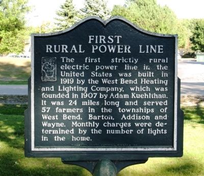 First Rural Power Line Marker image. Click for full size.