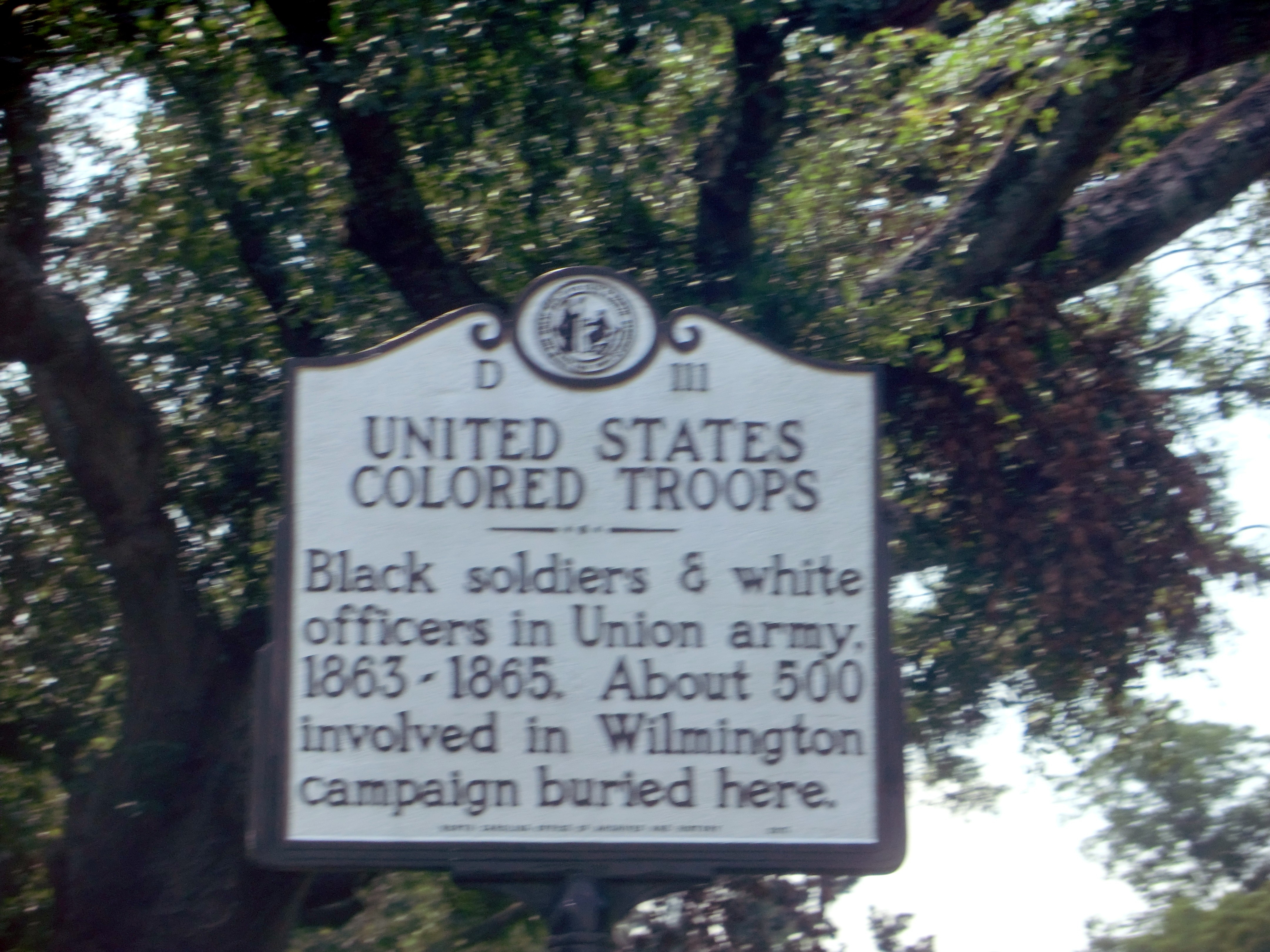 United States Colored Troops Marker