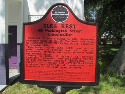 Elk's Rest Marker- image. Click for full size.