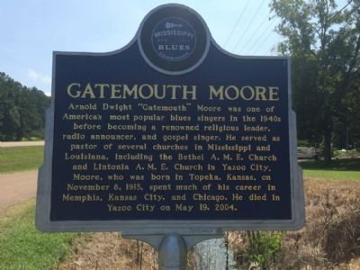 Gatemouth Moore Marker (Front) image. Click for full size.