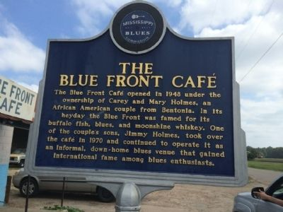 The Blue Front Café Marker (Front) image. Click for full size.