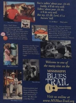 The Blue Front Café Marker photos image. Click for full size.