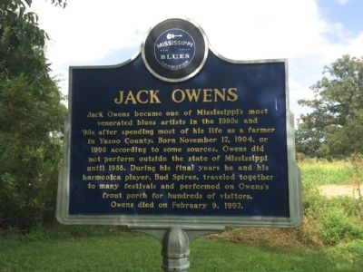Jack Owens Marker (Front) image. Click for full size.