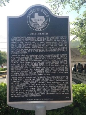 Juneteenth Marker image. Click for full size.