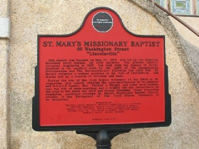 St. Mary's Missionary Baptist Marker image. Click for full size.