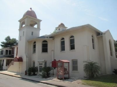 First Baptist Church of St Augustine Marker and Church image. Click for full size.