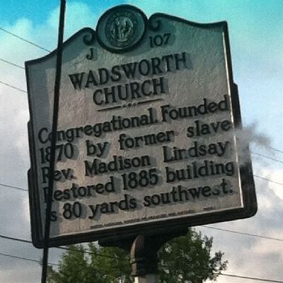 Wadsworth Congregational Church Marker image. Click for full size.