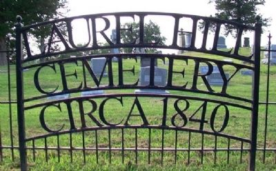 Laurel Hill Cemetery Sign image. Click for full size.