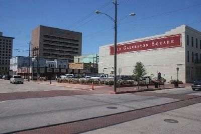 Southwest Corner of 2200 Strand intersection where marker is located. image. Click for full size.