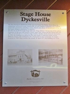 Stage House · Dyckesville Marker image. Click for full size.