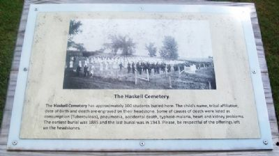 The Haskell Cemetery Marker image. Click for full size.