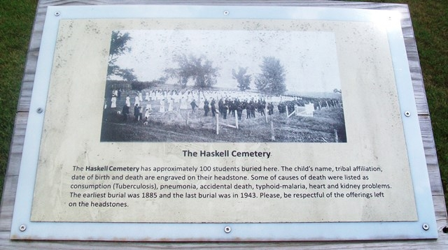 The Haskell Cemetery Marker