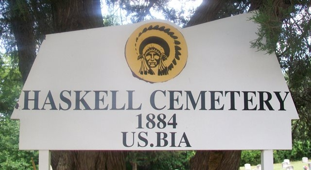 The Haskell Cemetery Sign