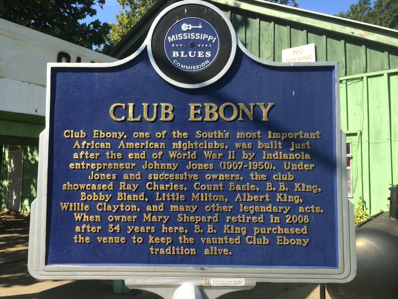 Club Ebony Marker (Front)