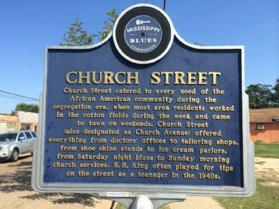 Church Street Marker (Front) image. Click for full size.