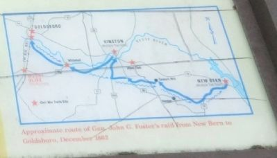 Close up of the map on the Mount Olive Marker image. Click for full size.