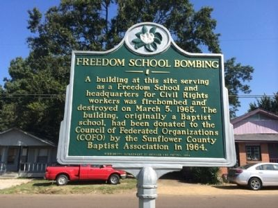 Freedom School Bombing Marker image. Click for full size.