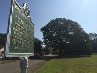 Freedom School Bombing Marker area image. Click for full size.