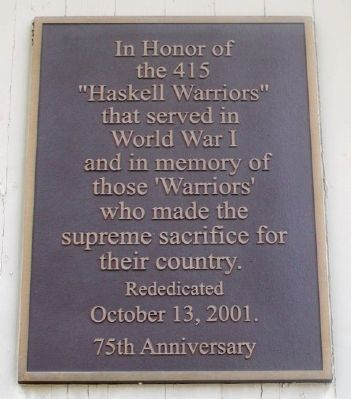 Haskell Stadium Memorial Arch Marker image. Click for full size.