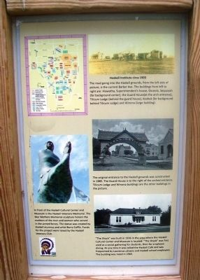 Haskell Indian Nations University Marker image. Click for full size.