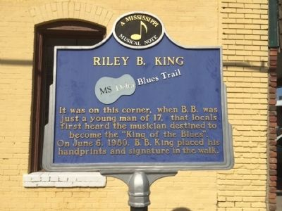 Riley B. King Marker image. Click for full size.
