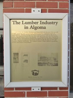 The Lumber Industry in Algoma Marker image. Click for full size.