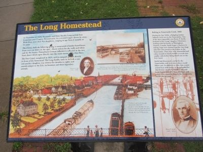 The Long Homestead Marker image. Click for full size.