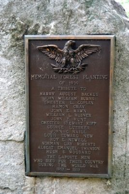 Memorial Forest Planting Marker image. Click for full size.