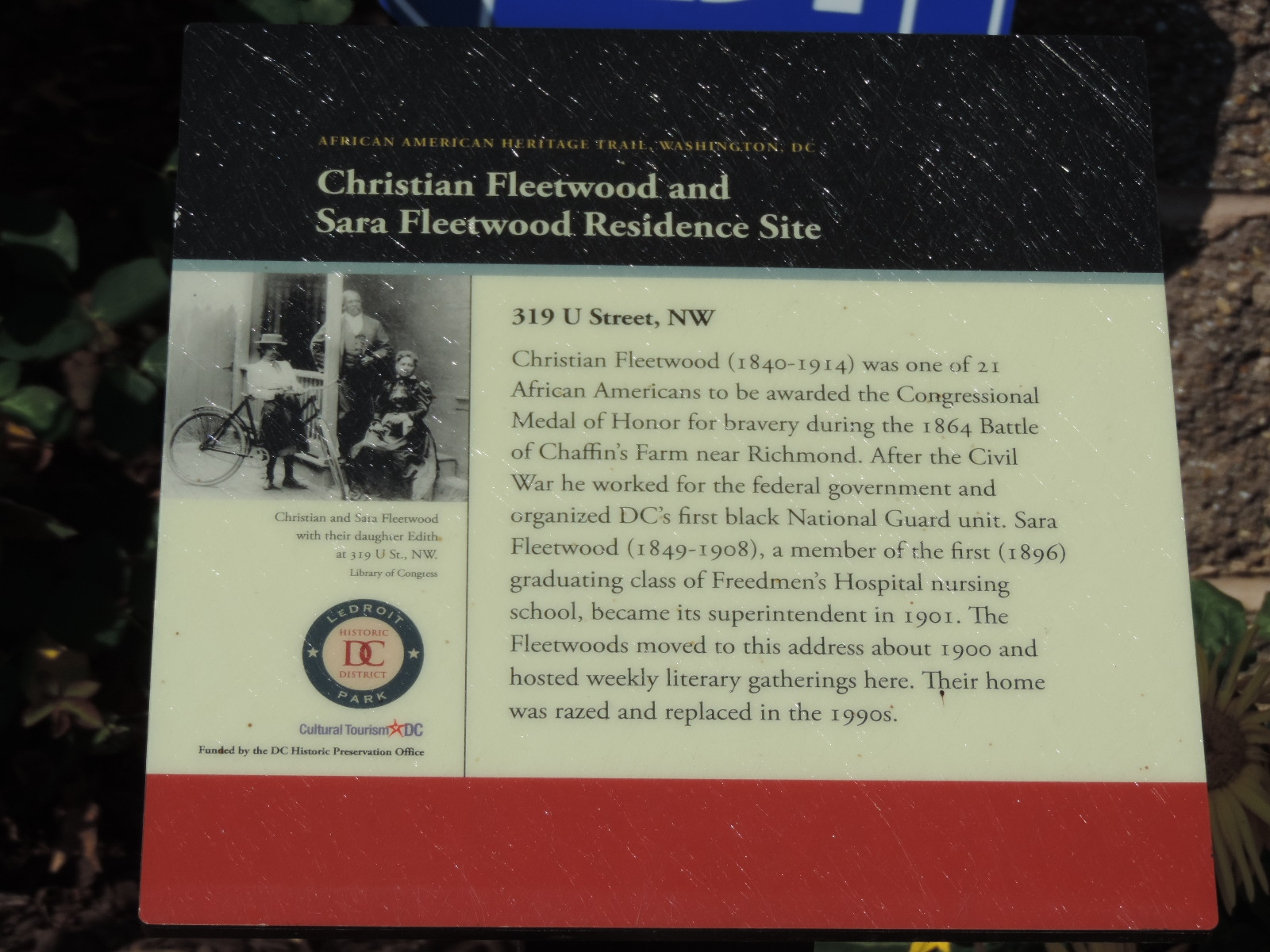 Christian Fleetwood and Sara Fleetwood Residence Site Marker