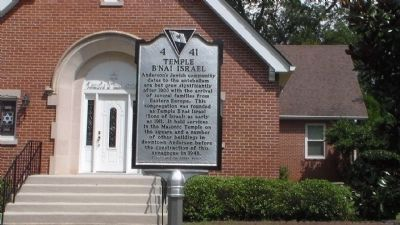 Temple B'Nai Isreal Marker image. Click for full size.