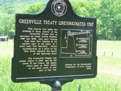 Knox County Greenville Treaty Line Marker image. Click for full size.