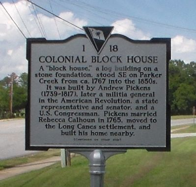 Colonial Block House Marker image. Click for full size.