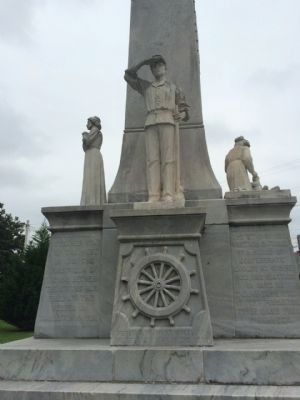 Confederate Memorial (Left Side) image. Click for full size.