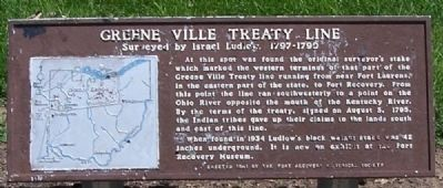 Greene Ville Treaty Line Marker image. Click for full size.