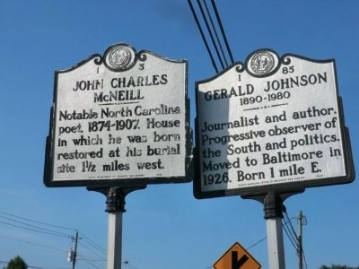 Gerald Johnson Marker image. Click for full size.