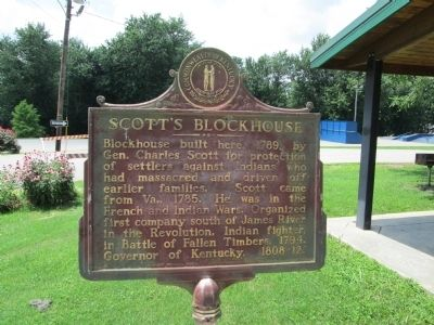 Scott's Blockhouse Marker image. Click for full size.