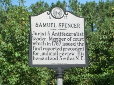 Samuel Spencer Marker image. Click for full size.