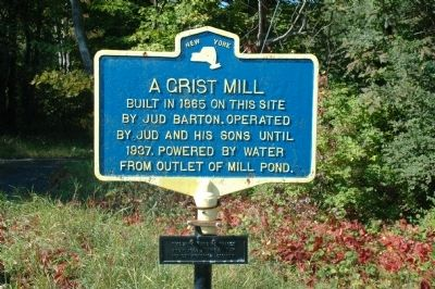 A Grist Mill Marker image. Click for full size.