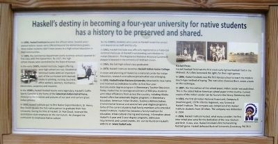 Haskell Indian Nations University Timeline Marker image. Click for full size.