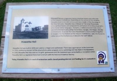 Hiawatha Hall Marker image. Click for full size.