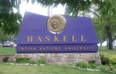 Haskell Indian University Sign image. Click for full size.