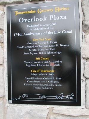 Plaza Dedication Sign image. Click for full size.