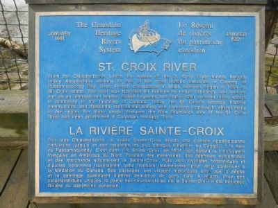 St. Croix River Marker image. Click for full size.