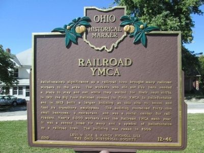 Railroad YMCA Marker image. Click for full size.