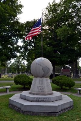 Michigan City World War II Memorial image. Click for full size.