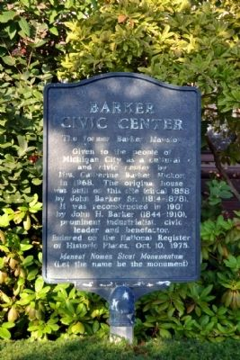 Barker Civic Center Marker image. Click for full size.