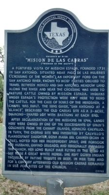 "Vicinity of site: ""Mision de las Cabras"" Marker image. Click for full size."