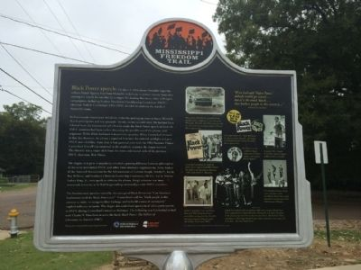 """Black Power"" Speech Marker (Rear) image. Click for full size."